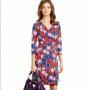 DVF x Andy Warhol wrap dress cute for valentines!